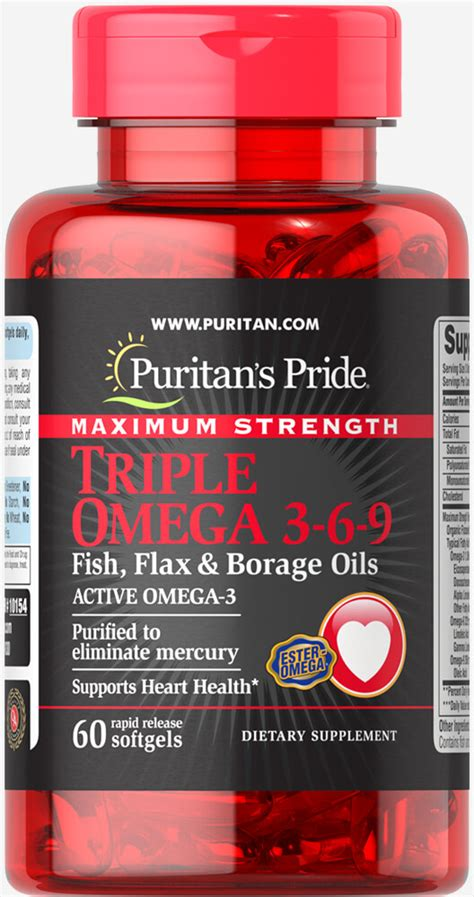 Puritan S Pride Maximum Strength Omega 3 6 9 2 Murah maximum strength omega 3 6 9 fish flax borage oils 60 softgels omega 3 supplements