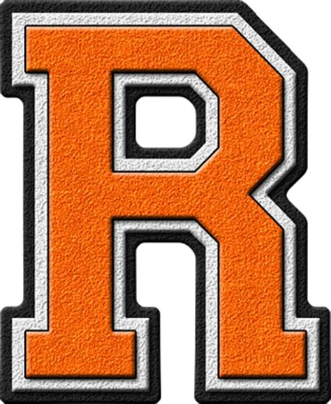 Of The Letter Presentation Alphabets Orange Varsity Letter R