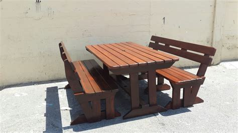 quality outdoor backrest picnic set in teak in cape town