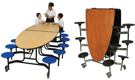 elliptical stool mobile school cafeteria tables by midwest