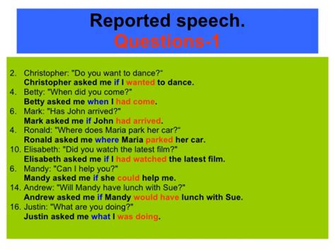 Who Reported Me On by Reported Speech Ticleando