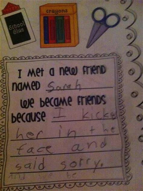kids write  funniest   pics