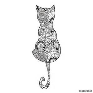 quot vector illustration mandala cat coloring book gatto mandala vettoriale da colorare
