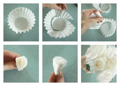 How To Make Paper Flowers From Coffee Filters - coffee filter roses 183 how to make a paper flower
