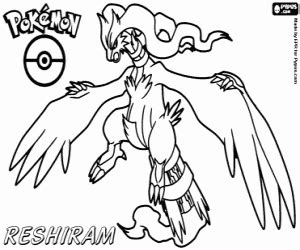 pokemon coloring pages reshiram pok 233 mon black and white coloring pages printable games 3
