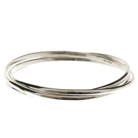 Handmade Silver Bangles - stylish sterling silver russian wedding ring style