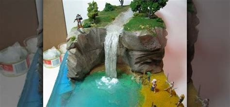 How To Make A Paper Diorama - how to make a diorama waterfall 171 novelty wonderhowto