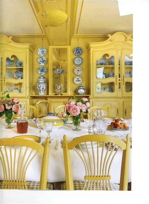 monets dining room yellow dining room french country