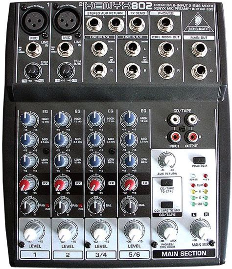Mixer Audio Behringer Xenyx 802 behringer xenyx 802 mixer 2 mono 2 input review and