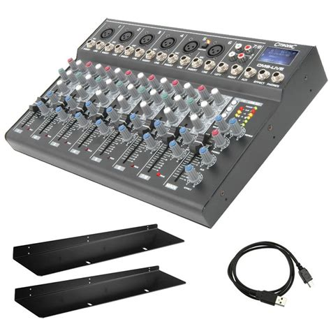 studio mixer desk citronic cm8 live 8 channel live studio mixing desk mixer usb sd effects