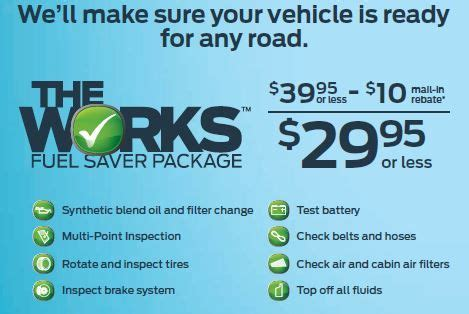 Ford the works $10 rebate