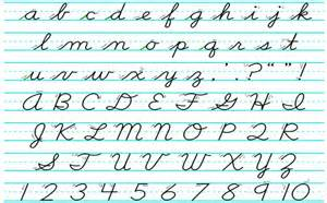 what is cursive and why do americans seem to it