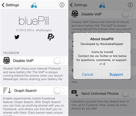 facebook themes cydia cydia tweak bluepill enhances facebook and messenger