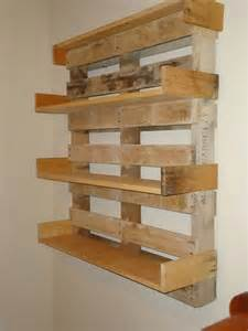 Recycled Bookshelves Its Easy To Create Wooden Pallet Shelves Pallet Wood