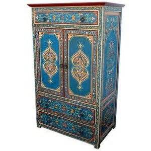 Painted Armoire Furniture Moroccan Painted Armoire Funky Painted Furniture
