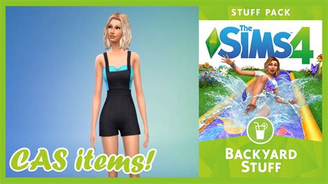 backyard stuff the sims 4 backyard stuff cas items youtube