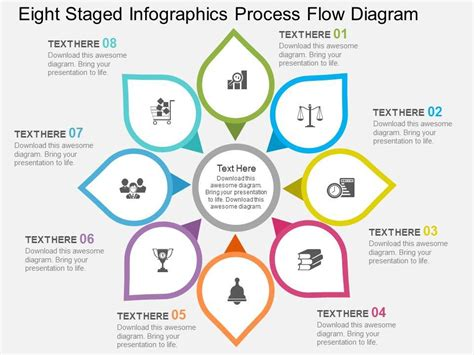 style circular hub spoke  piece powerpoint  diagram infographic