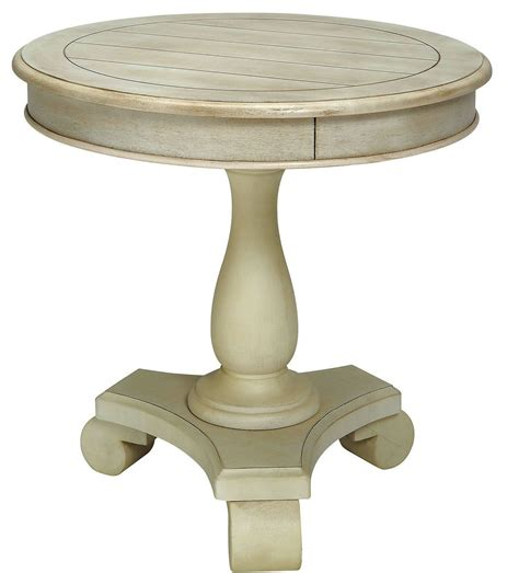 Round White Accent Table | kalea antique white round accent table cm ac135wh furniture of america