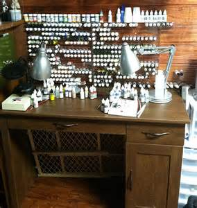 Best Desk L For Miniature Painting Table Top Gaming Bunker Model Paint Shelves Testimonials