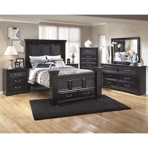 ashley cavallino  piece wood queen drawer bedroom set