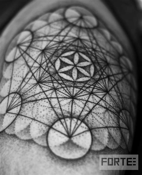 sacred tattoo oakland flower of metatrons cube dillon forte sri yantra