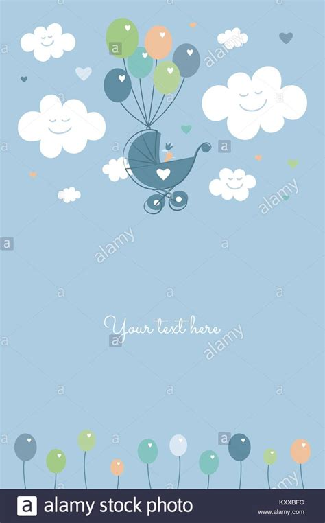 Baby Boy Card Template by Baby Shower Baby Boy Birth Celebration Card Template
