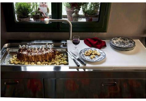 lavello cucina da appoggio lavello a 2 vasche appoggio in acciaio inox in stile