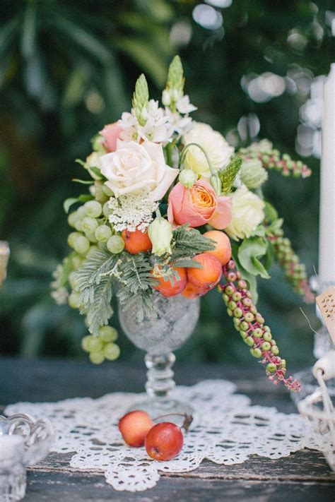 fruit and flower centerpieces for when needed wedding