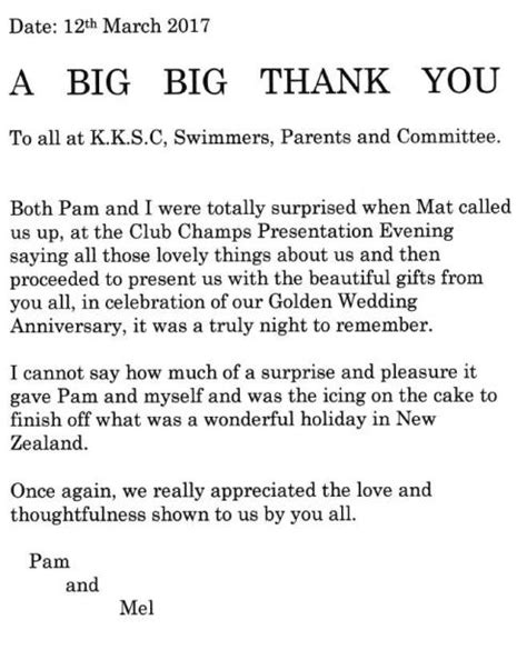 thank you letter to big kingsbridge kingfishers news
