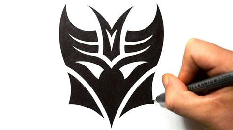 how to draw a tribal tattoo design how to draw decepticon in a tribal design style