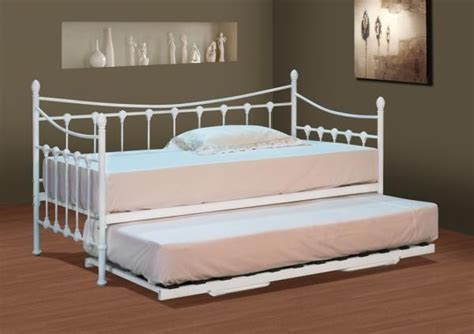 White Metal Daybed With Trundle White Metal Day Bed With Trundle Toddler Room