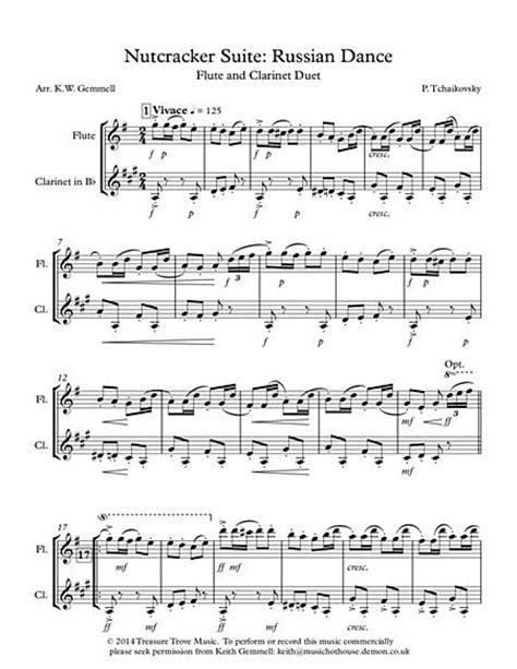 testo stuff the nutcracker suite russian flute and clarinet