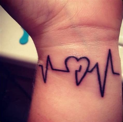 line tattoo meaning heartbeat line with connections and meanings
