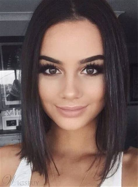 straight bob hairstyle shoulder length synthetic lace