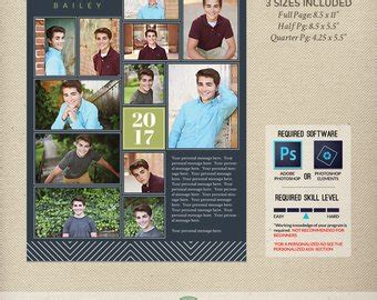 Senior Yearbook Ad Etsy Senior Ad Templates