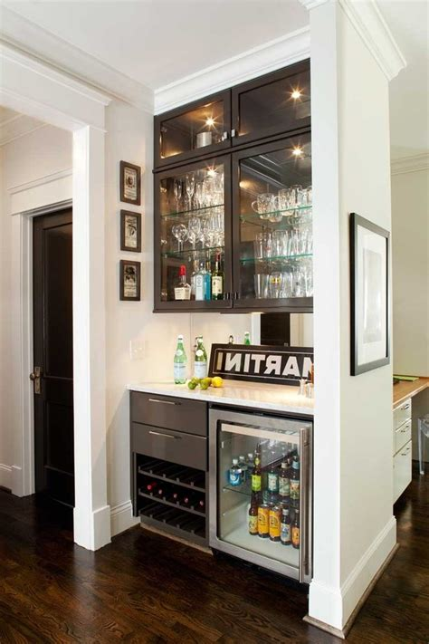 built in bar built ins and wine fridge on pinterest wonderful mini glass fridge with wine high gloss cabinets