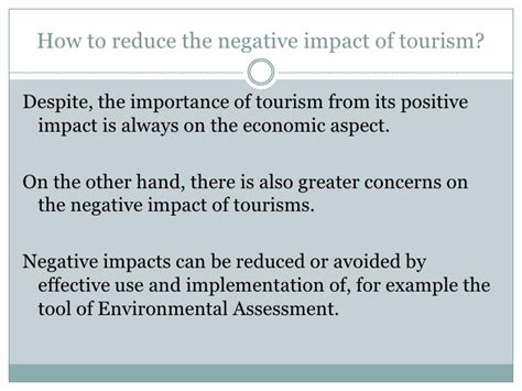 Positive And Negative Aspects Of Tourism Essay by Slides To Reduce Impact Of Tourism