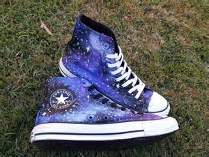 Cheap Home Decor Diy Galaxy Converse 183 A Pair Of Patterned Shoes 183 Art