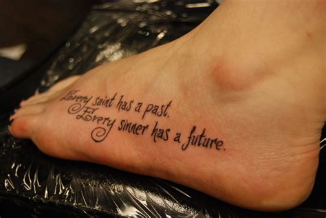 every sinner has a future tattoo every has a past every sinner has a future