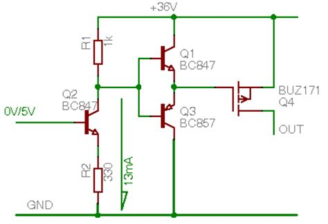 transistor gate widerstand wie am einfachsten 12v mit 5v steuerspannung schicken mikrocontroller net