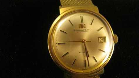 iwc vintage automatic solid 18ct solid 18ct gold