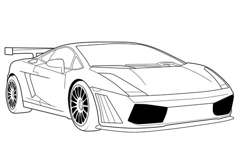 Free Printable Lamborghini Coloring Pages For