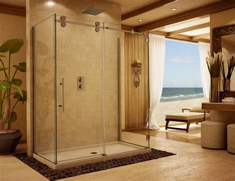 bathroom with glass doors frameless glass shower doors frameless enclosures