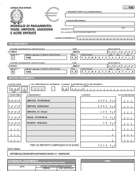 codice ufficio per f23 il modello f24 per il pagamento delle imposte in