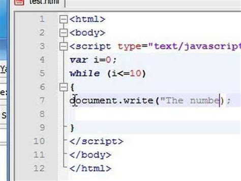 javascript tutorial document write javascript tutorial 14 while loop youtube