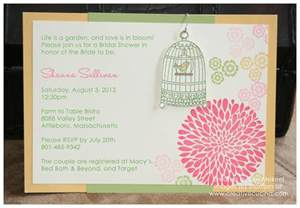summer garden bridal shower invitations creative cucina