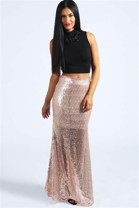 boohoo deanna all sequin maxi skirt ebay