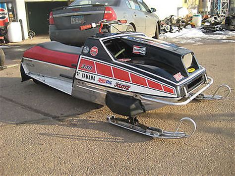 plymouth snowmobile races vintage snowmobile 1976 yamaha srx 340 race sled used
