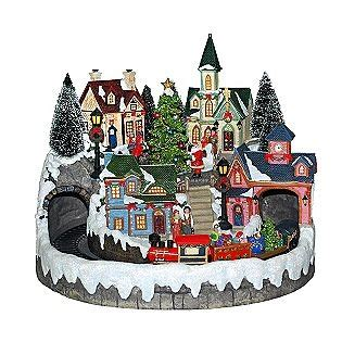 light up christmas village animated light up christmas village scene houses with
