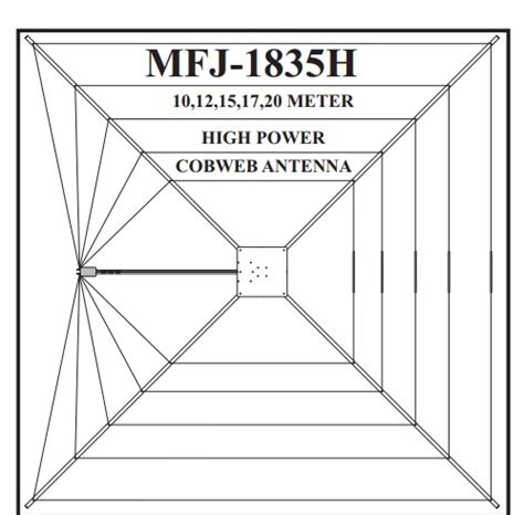 40 Square Meters In Feet by Mfj 1835h Cobweb Antenna Review High Power Version 1 5kw
